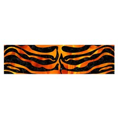 Skin2 Black Marble & Fire Satin Scarf (oblong)