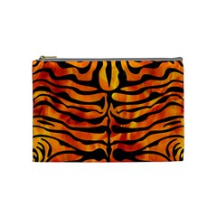 Skin2 Black Marble & Fire (r) Cosmetic Bag (medium)