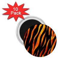 Skin3 Black Marble & Fire 1 75  Magnets (10 Pack)