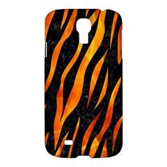 Skin3 Black Marble & Fire Samsung Galaxy S4 I9500/i9505 Hardshell Case