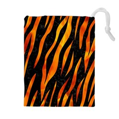 Skin3 Black Marble & Fire Drawstring Pouches (extra Large)
