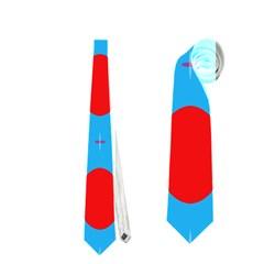 Ovals And Stripes Pattern                            Necktie