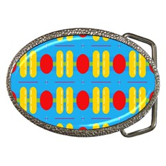 Ovals And Stripes Pattern                            Belt Buckle