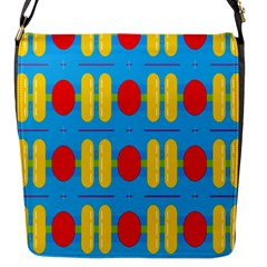 Ovals And Stripes Pattern                            Flap Closure Messenger Bag (s)