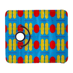 Ovals And Stripes Pattern                      Samsung Galaxy Note Ii Flip 360 Case