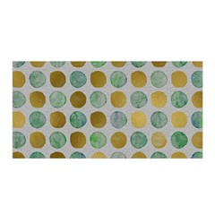 Green And Golden Dots Pattern                      Satin Wrap
