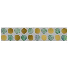 Green And Golden Dots Pattern                            Flano Scarf