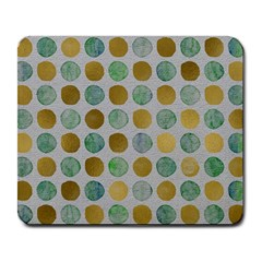 Green And Golden Dots Pattern                            Large Mousepad