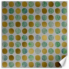 Green And Golden Dots Pattern                            Canvas 16  X 16