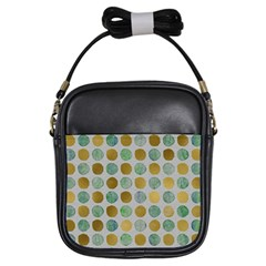 Green And Golden Dots Pattern                            Girls Sling Bag