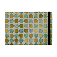 Green And Golden Dots Pattern                      Apple Ipad 3/4 Flip Case