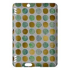 Green And Golden Dots Pattern                      Kindle Fire Hd (2013) Hardshell Case