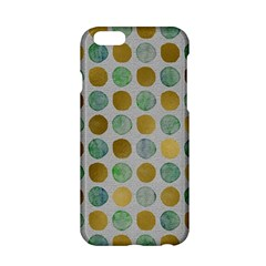 Green And Golden Dots Pattern                      Apple Iphone 6/6s Black Enamel Case