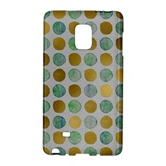 Green And Golden Dots Pattern                      Samsung Galaxy Note 4 Leather Folio