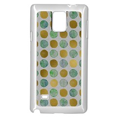 Green And Golden Dots Pattern                      Samsung Note 4 Hardshell Back Case