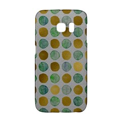 Green And Golden Dots Pattern                      Samsung Galaxy S6 Edge Hardshell Case