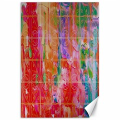 Colorful Watercolors Pattern                            Canvas 20  X 30