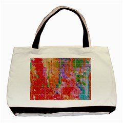 Colorful Watercolors Pattern                            Basic Tote Bag