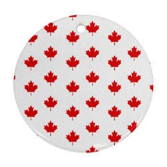 Canadian Maple Leaf Pattern Round Ornament (two Sides)