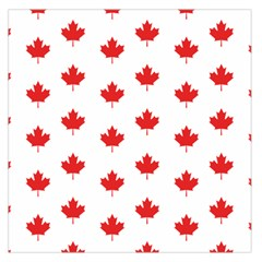 Canadian Maple Leaf Pattern Large Satin Scarf (square)