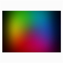 Bright Lines Resolution Image Wallpaper Rainbow Large Glasses Cloth (2 Side)