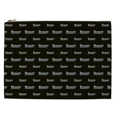 Beauty Moments Phrase Pattern Cosmetic Bag (xxl)