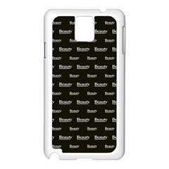 Beauty Moments Phrase Pattern Samsung Galaxy Note 3 N9005 Case (white)