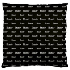 Beauty Moments Phrase Pattern Large Flano Cushion Case (one Side)