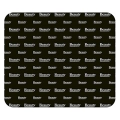 Beauty Moments Phrase Pattern Double Sided Flano Blanket (small)