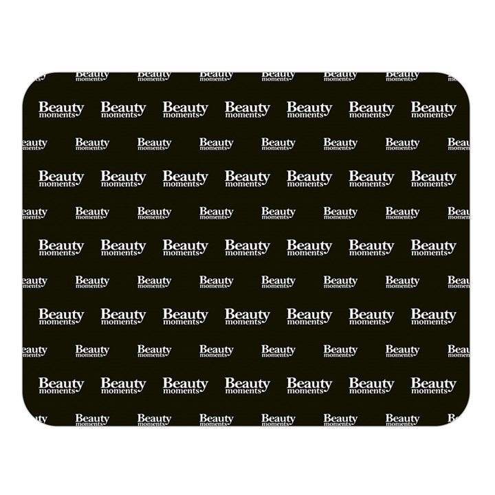 Beauty Moments Phrase Pattern Double Sided Flano Blanket (Large)