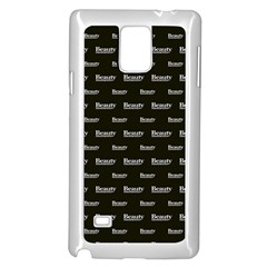 Beauty Moments Phrase Pattern Samsung Galaxy Note 4 Case (white)