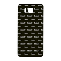 Beauty Moments Phrase Pattern Samsung Galaxy Alpha Hardshell Back Case