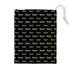 Beauty Moments Phrase Pattern Drawstring Pouches (extra Large)