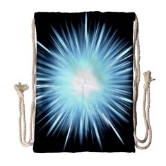 Bright Light On Black Background Drawstring Bag (large)
