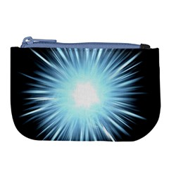 Bright Light On Black Background Large Coin Purse