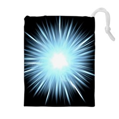 Bright Light On Black Background Drawstring Pouches (extra Large)