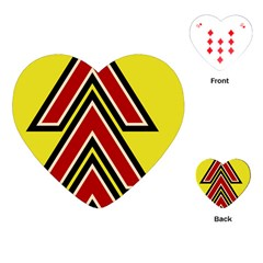 Chevron Symbols Multiple Large Red Yellow Playing Cards (heart)