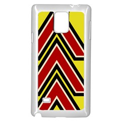 Chevron Symbols Multiple Large Red Yellow Samsung Galaxy Note 4 Case (white)