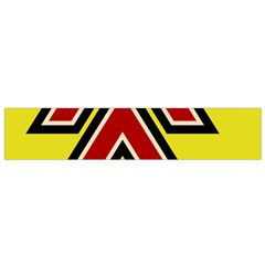 Chevron Symbols Multiple Large Red Yellow Flano Scarf (small)