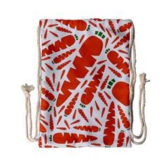 Carrots Fruit Vegetable Orange Drawstring Bag (small)