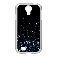 Blue Glowing Star Particle Random Motion Graphic Space Black Samsung Galaxy S4 I9500/ I9505 Case (white)
