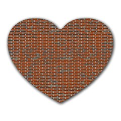 Brick Wall Brown Line Heart Mousepads