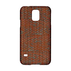 Brick Wall Brown Line Samsung Galaxy S5 Hardshell Case