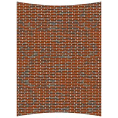Brick Wall Brown Line Back Support Cushion