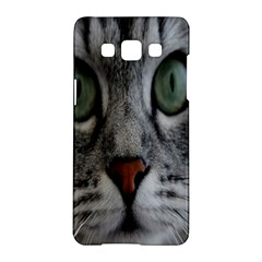 Cat Face Eyes Gray Fluffy Cute Animals Samsung Galaxy A5 Hardshell Case