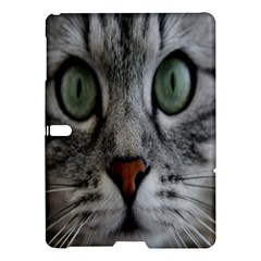 Cat Face Eyes Gray Fluffy Cute Animals Samsung Galaxy Tab S (10 5 ) Hardshell Case