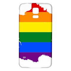 Flag Map Stripes Line Colorful Samsung Galaxy S5 Back Case (white)