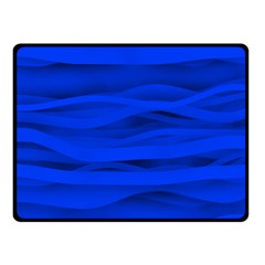 Dark Blue Stripes Seamless Double Sided Fleece Blanket (small)