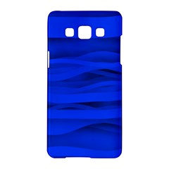 Dark Blue Stripes Seamless Samsung Galaxy A5 Hardshell Case
