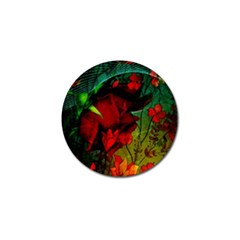 Flower Power, Wonderful Flowers, Vintage Design Golf Ball Marker (4 Pack)
